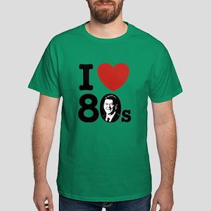 I Love The 80s Reagan Dark T-Shirt