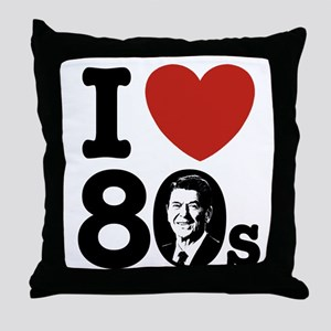 I Love The 80s Reagan Throw Pillow