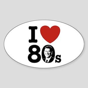 I Love The 80s Reagan Oval Sticker