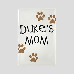 Duke's Mom Dog Names Rectangle Magnet