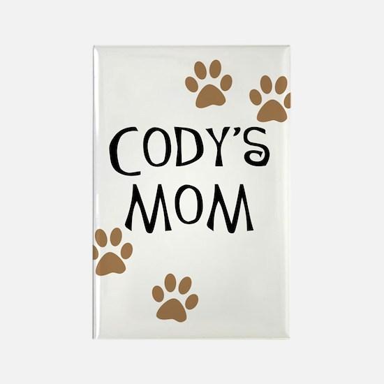Cody's Mom Dog Names Rectangle Magnet