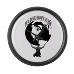 HOLD ME DOWN MUSIC GROUP OFFICIAL Large Wall Clock