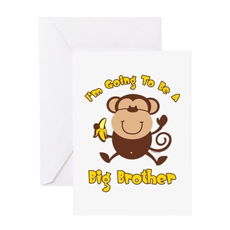 Monkey Future Big Brother Greeting Card