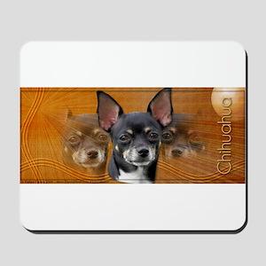 Chihuahua Crescent Moon Mousepad
