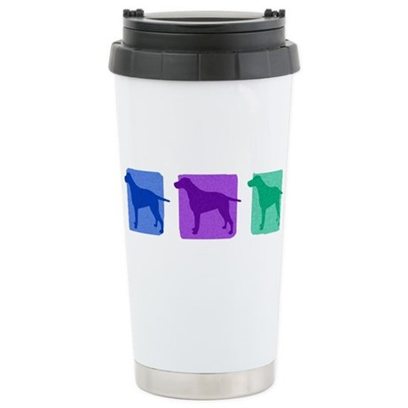 Color Row Curly Coated Stainless Steel Travel Mug