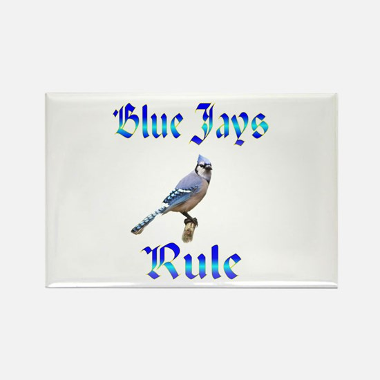 Blue Jays Rule Rectangle Magnet (100 pack)
