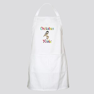 Chickadees Rule BBQ Apron