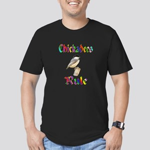 Chickadees Rule Men's Fitted T-Shirt (dark)