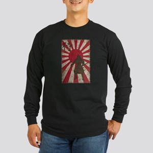 Vintage Samurai Long Sleeve Dark T-Shirt