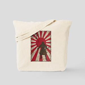 Vintage Samurai Tote Bag