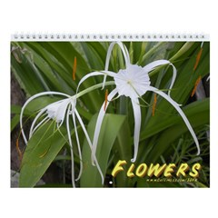 Pretty Flowers Wall Calendar