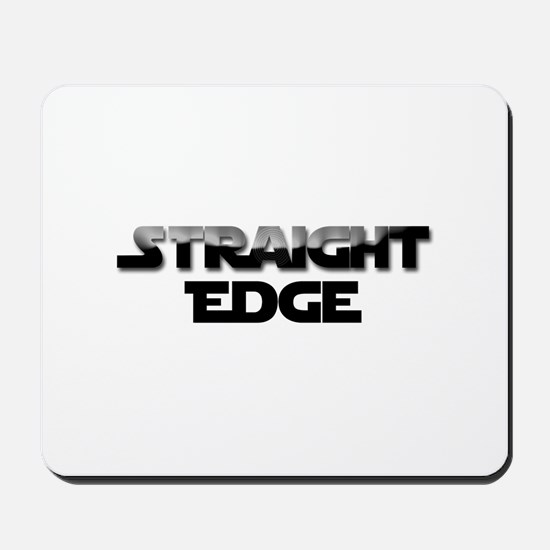 Straight Edge Clean Font Mousepad