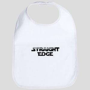 Straight Edge Clean Font Bib