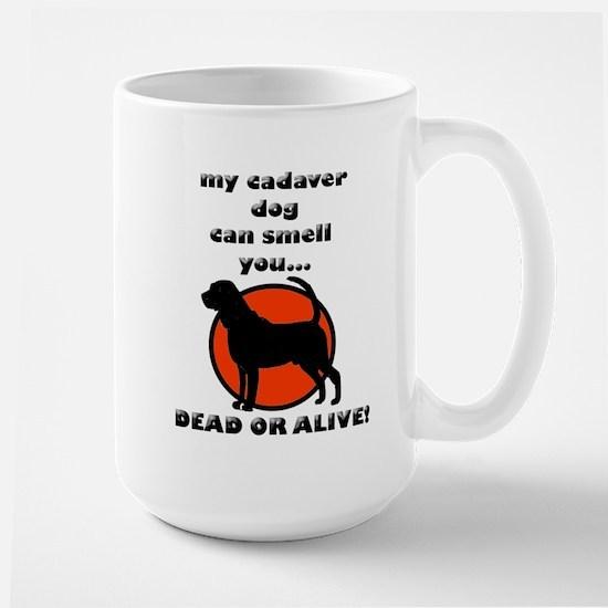 cadaver bloodhound Large Mug