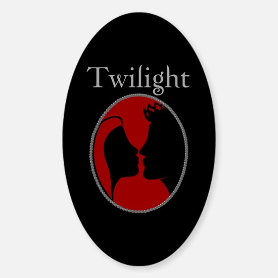 Twilight Silhouette Oval Decal