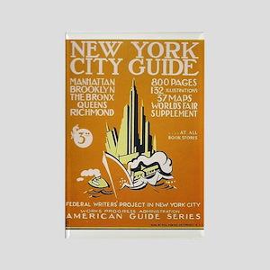 New York City Guide WPA Art Rectangle Magnet