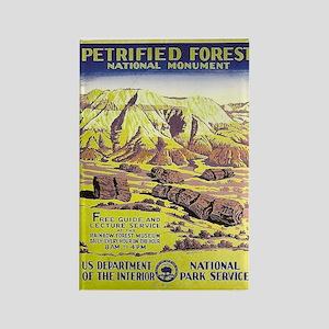 Petrified Forest WPA Vintage Art Rectangle Magnet