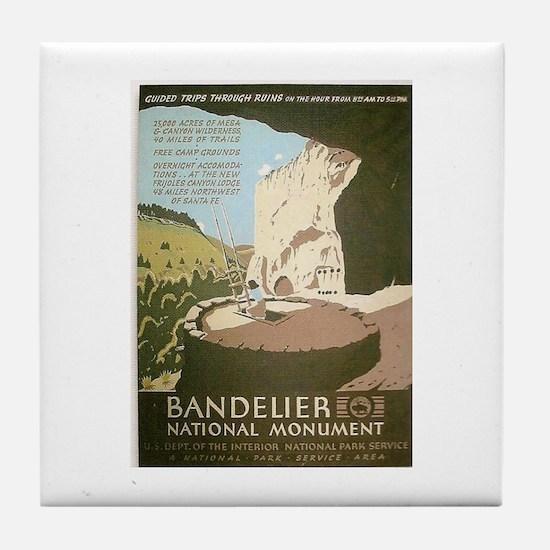 Bandelier National Monument WPA Art Tile Coaster