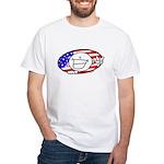 Patriotic Peace Happy Face White T-Shirt