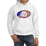 Patriotic Peace Happy Face Hooded Sweatshirt