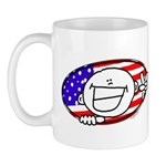 Patriotic Peace Happy Face Mug