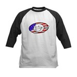 Patriotic Peace Happy Face Kids Baseball Jersey
