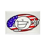 Patriotic Peace Happy Face Rectangle Magnet