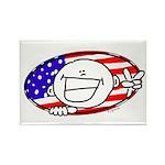 Patriotic Peace Happy Face Rectangle Magnet