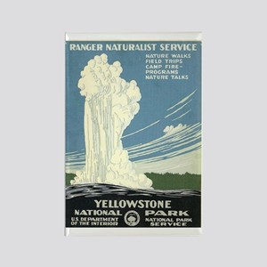 Yellowstone National Park WPA Art Rectangle Magnet