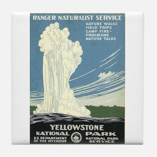 Yellowstone National Park WPA Art Tile Coaster