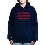 Liberal Sheep Creation Women's Hooded Sweatshirt