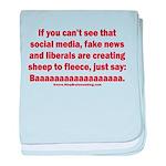 Liberal Sheep Creation baby blanket