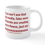 Liberal Sheep Creation 20 oz Ceramic Mega Mug