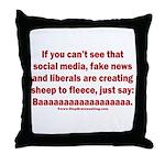 Liberal Sheep Creation Throw Pillow