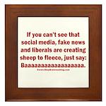 Liberal Sheep Creation Framed Tile
