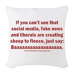 Liberal Sheep Creation Woven Throw Pillow