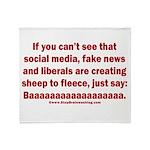 Liberal Sheep Creation Throw Blanket