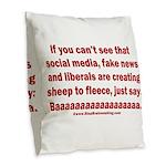 Liberal Sheep Creation Burlap Throw Pillow