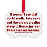 Liberal Sheep Creation Picture Ornament
