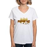 Paper Ho Retro Women's V-Neck T-Shirt