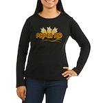 Paper Ho Retro Women's Long Sleeve Dark T-Shirt