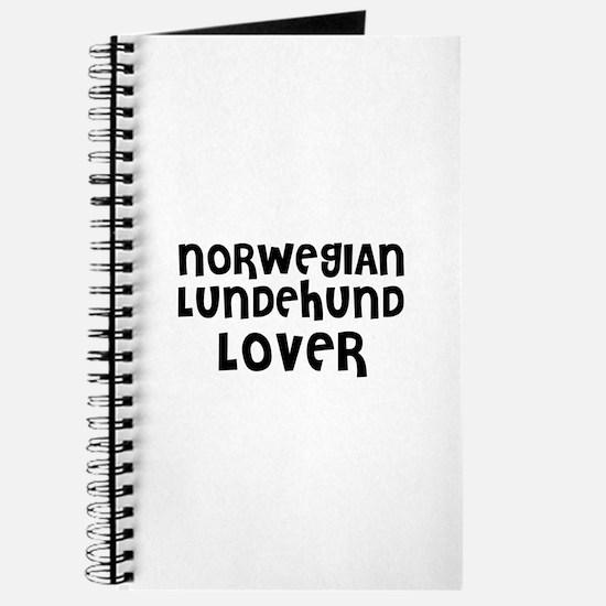 NORWEGIAN LUNDEHUND LOVER Journal