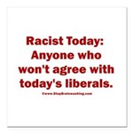 Liberal definition of Ra Square Car Magnet 3