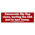 Flip to Hurt Trump Sticker (Bumper)