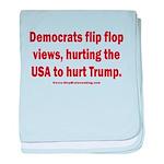 Flip to Hurt Trump baby blanket