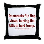 Flip to Hurt Trump Throw Pillow