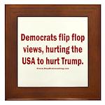 Flip to Hurt Trump Framed Tile