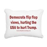 Flip to Hurt Trump Rectangular Canvas Pillow