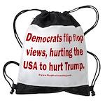 Flip to Hurt Trump Drawstring Bag