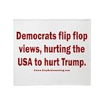 Flip to Hurt Trump Throw Blanket